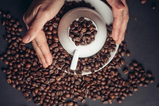 Kawa ziarnista, palone elementy kawy
