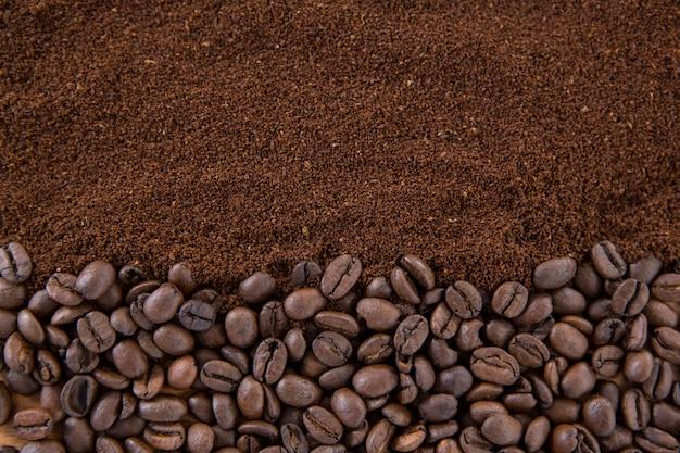 Kawa ziarnista z paloną kawą mieloną