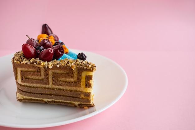 Kawałek Ciasta Wzorzystego Herbatniki Premium Zdjęcia