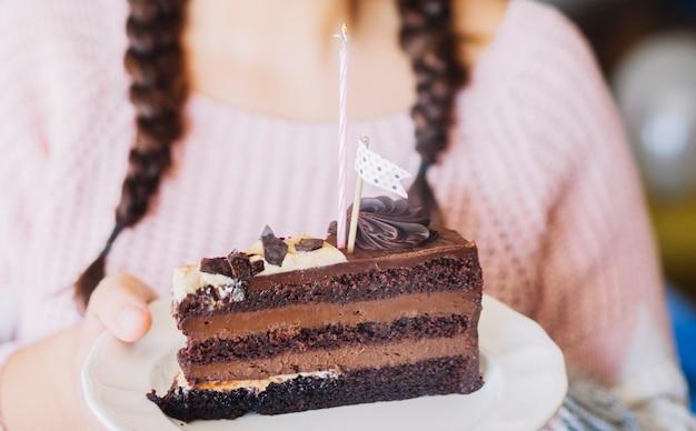 Kawałek ciasto czekoladowe