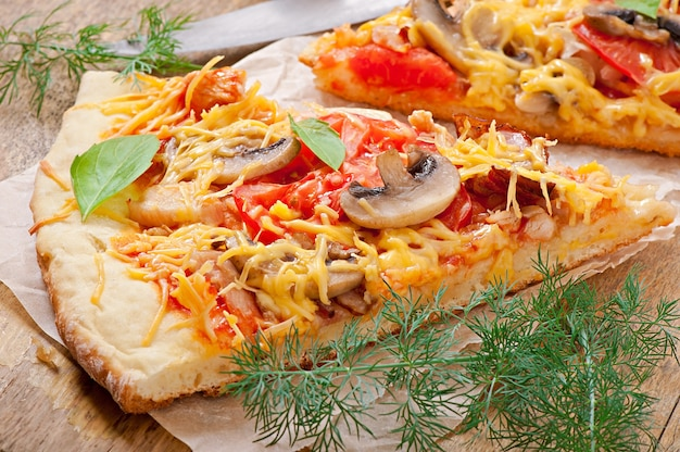Kawałki pizzy
