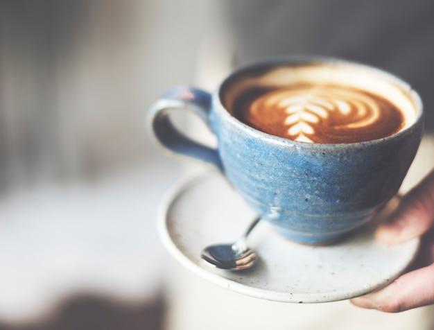 Kawy kawiarnia kofeina cappuccino świeżość puchar koncepcja