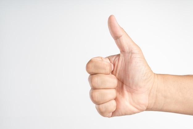Kciuk w górę znak ręką