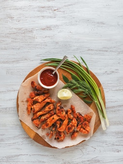 Kerala chicken pakoda. pyszne pakoras przygotowane w south indian st
