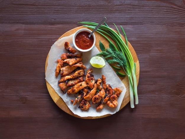 Kerala chicken pakoda. pyszne pakory przygotowane w stylu południowoindyjskim