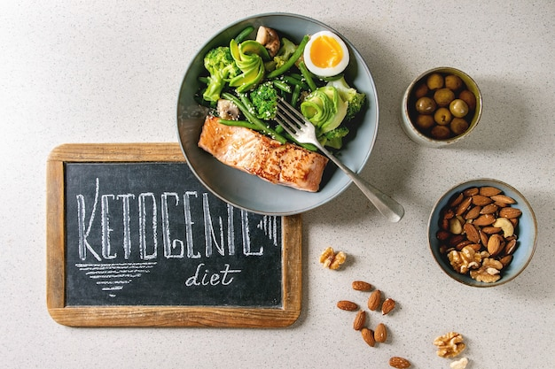 Ketogeniczna kolacja dietetyczna
