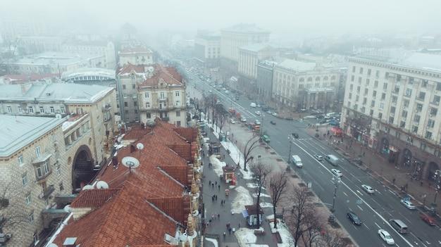 Khreshchatyk to główna ulica kijowa.