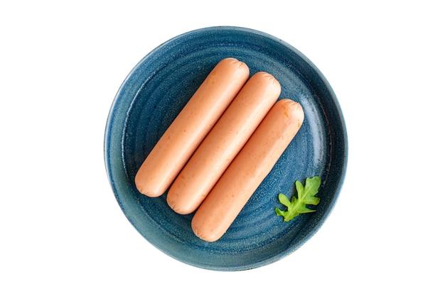 Kiełbasa białko warzywne wegetariańskie bezmięsne soja seitan pszenica klasyczny smak wegetariański lub wegański