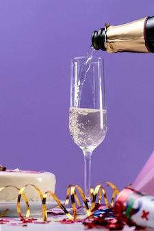 Kieliszek do szampana z bliska