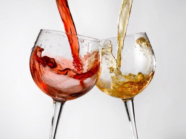 Kieliszki do czerwonego i białego wina