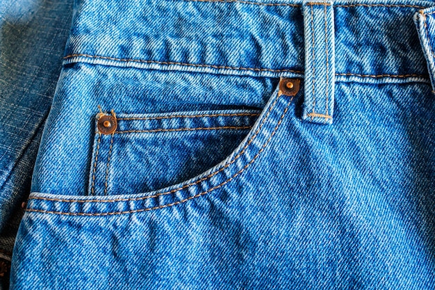 Kieszeń dżinsów z bliska tła