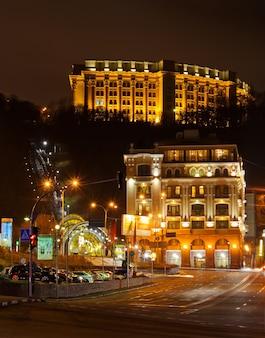 Kijów - Plac Poshtova - Ukraina Premium Zdjęcia