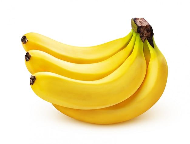 Kilka bananów na białym tle