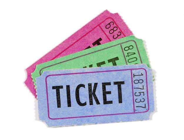 Kilka biletów filmowych lub losowych