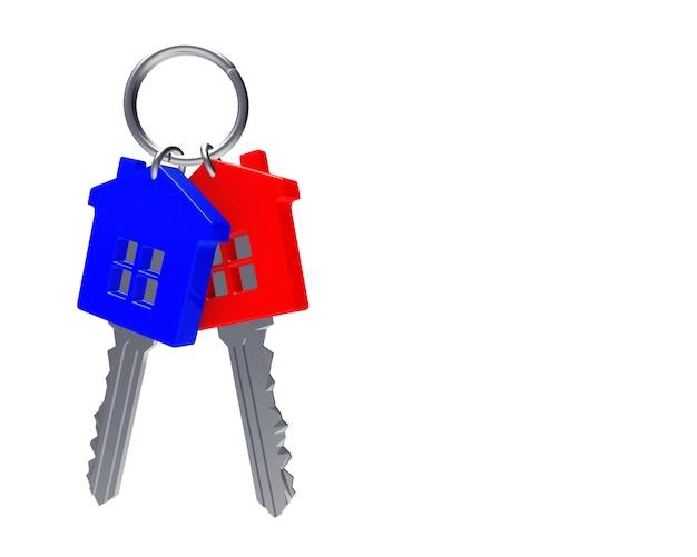 Kilka kolorowych kluczy w kształcie domków
