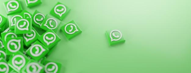 Kilka logo whatsapp na zielono