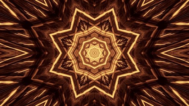 Kilka świateł tworzących okrągłe wzory za czarnym tłem