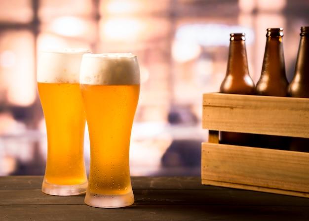 Kilka szklanek piwa