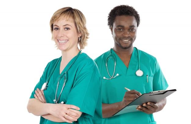 Kilku młodych lekarzy