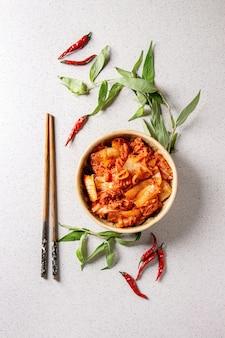 Kimchi z koreańską przystawką
