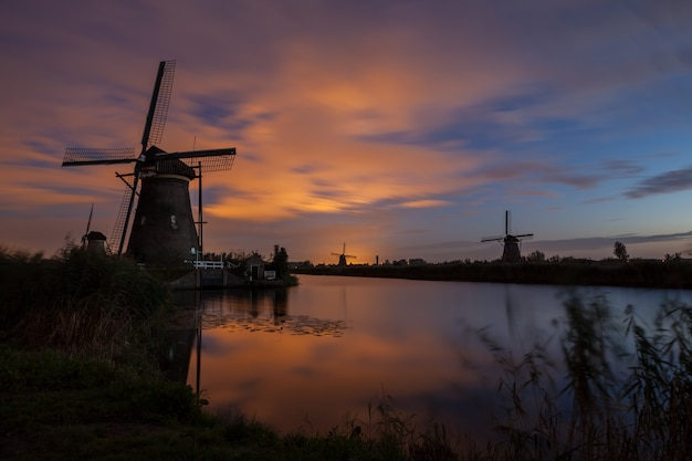 Kinderdijk w holandii