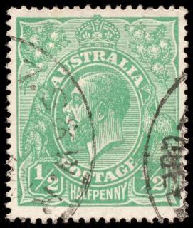 King george v zielony znaczek