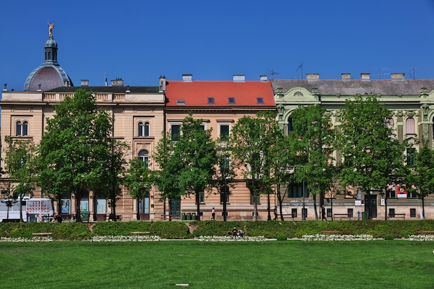 King tomislav square, zagrzeb, chorwacja