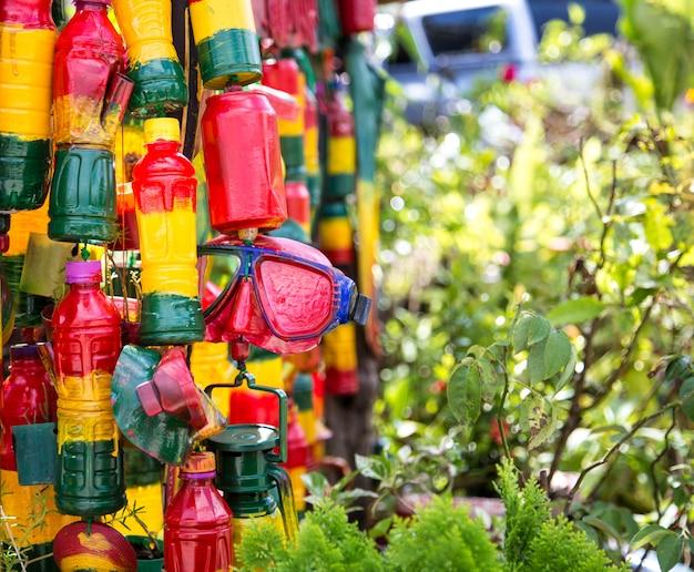 Kiosk reggae, zielony, żółty, czerwony, przedmioty rasta-man