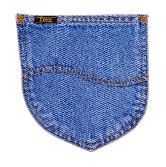 Kiszyniów, mołdawia 06 lutego 2017: lee cooper znak na nowoczesne niebieskie dżinsy. lee cooper to brytyjska firma odzieżowa, która licencjonuje sprzedaż wielu artykułów marki lee cooper, w tym dżinsów.