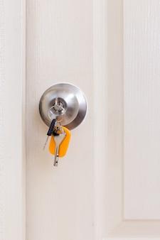 Klamka do drzwi z kluczami