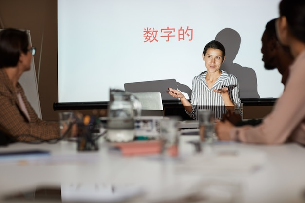 Klasa szkoleniowa dla chińskich studentów