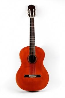 Klasyczna gitara akustyczna zbliżenie