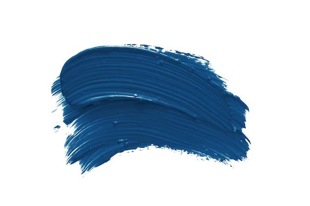 Klasyczna niebieska izolat smugi szminki lub lakieru