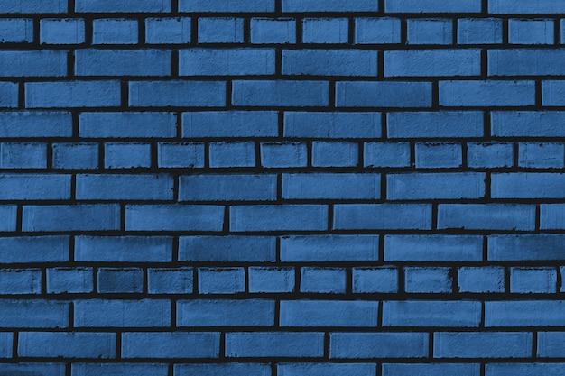 Klasyczna niebieska ściana z cegieł tekstura