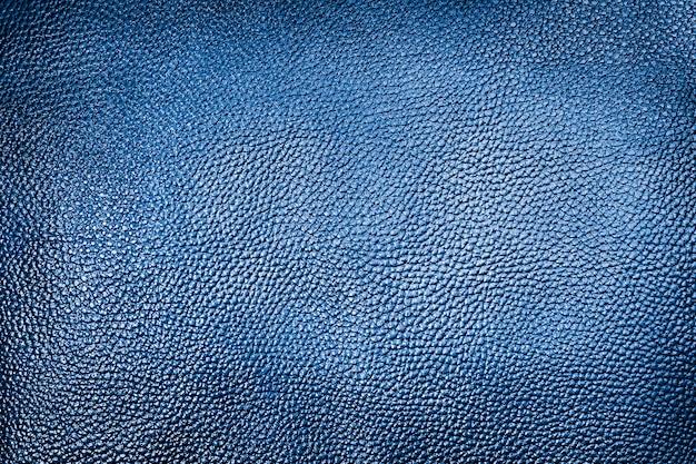 Klasyczna niebieska skórzana tekstura tło.
