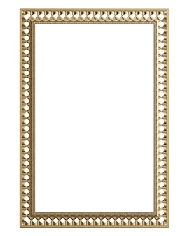 Klasyczna rama formująca z ornamentem do klasycznego wnętrza na białym tle