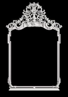 Klasyczna rama z ornamentem na czarnej ścianie