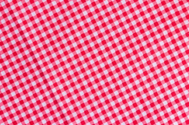 Klasyczna różowa kraciasta tkanina lub obrus