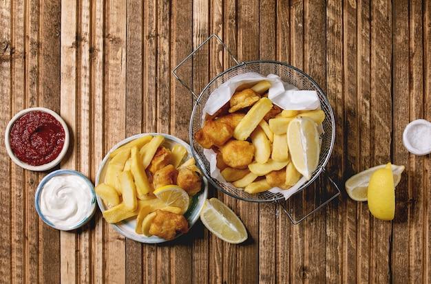 Klasyczna ryba z frytkami