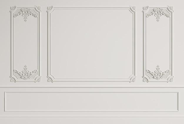 Klasyczna ściana wewnętrzna z listwami