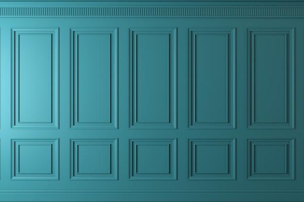 Klasyczna ściana z paneli z ciemnego drewna. projektowanie i technologia