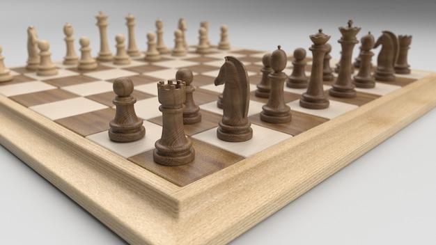 Klasyczna szachownica i figury