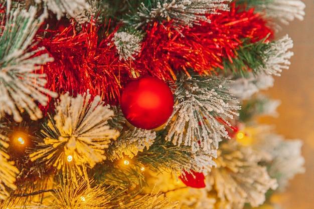 Klasyczne boże narodzenie nowy rok urządzone