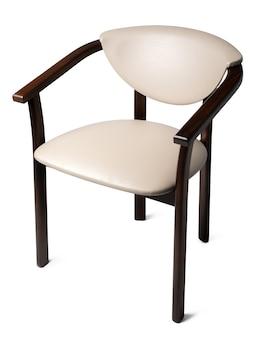 Klasyczne krzesło retro na białym tle