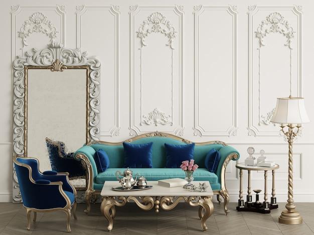 Klasyczne meble w klasycznym wnętrzu z miejscem na kopię