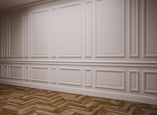 Klasyczne puste wnętrze, renderowanie 3d