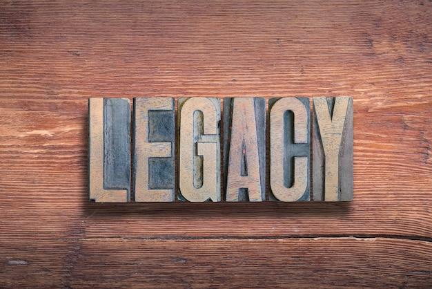Klasyczne słowo połączone na vintage lakierowanej powierzchni drewnianej