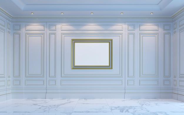 Klasyczne wnętrze jest w jasnych kolorach. renderowania 3d.