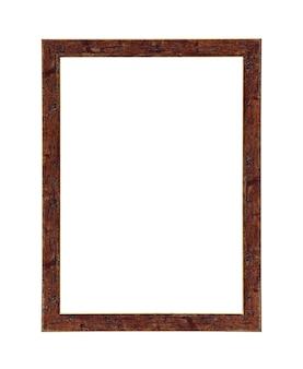 Klasyczny brązowy obraz ramki na płótnie na białym tle