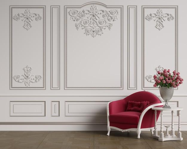 Klasyczny fotel w pokoju classic